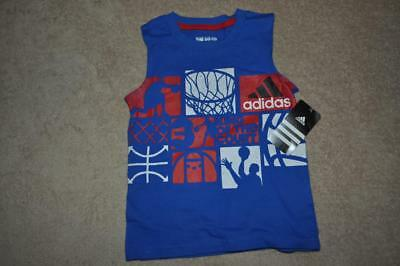 adidas The GO TO TEE Boys KING OF THE COURT Basketball Sleeveless T-Shirt NWT