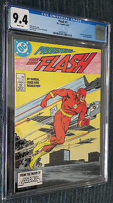 Flash #1 (1987) CGC 9.4 White Pages - First Wally West Flash issue! Teen Titans!