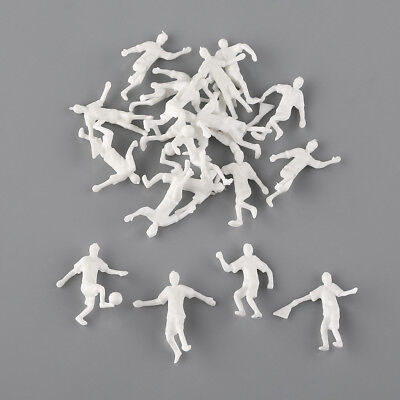 20 x 1:75 OO Scale Football Soccer Player People Figures White Unpainted People