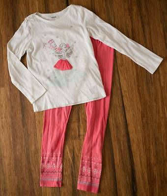 Gymboree Girls Size 10 Ice Skater Top and Leggings 10-12 Winter Fall Outfit Set