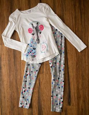 Gymboree Girls Size 10-12 Giraffe Top and Leggings 10 12 Outfit Set Lot Clothing