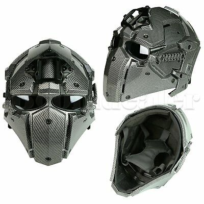 Full Face Mask Airsoft Tactical Paintball Protective Helmet Military Cosplay CS