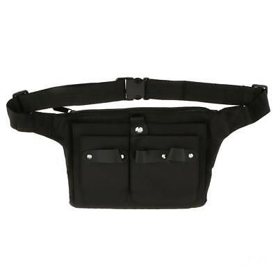Canvas Salon Hairdressing Tool Belt Bag Scissors Combs Brushes Holder Pouch