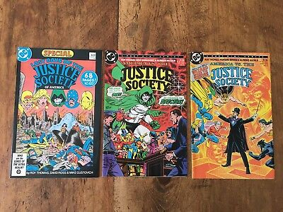 LAST DAYS OF THE JUSTICE SOCIETY OF AMERICA Set #1 #2 #3 1986 DC SHIPPING SALE