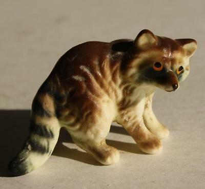Vintage Ceramic-Porcelain Hand Painted Raccoon Figurine-Adorable-Awesome-LOOK
