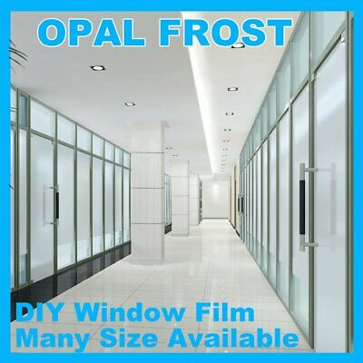 Sand Blast Clear Privacy Frosted Frosting Removable Window Glass Film All Sizes