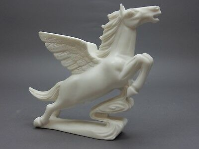 """Large Chinese Intricately Carved White Stone Pegasus, Tang horse  Statue 9 """""""