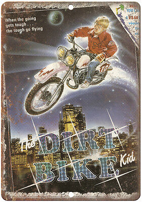 """The Dirt Bike Kid VHS Cover RARE 10"""" x 7"""" Reproduction Metal Sign"""