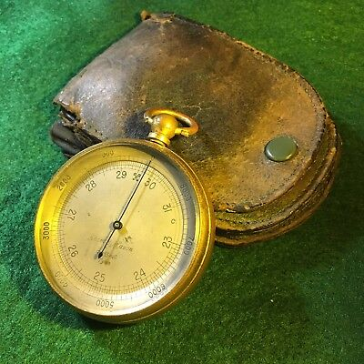 Antique Pocket Altimeter Barometer Made By Tycos Short Mason London