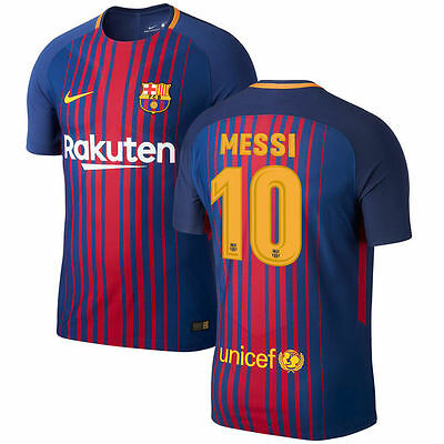 Nike FC Barcelona 2017 - 2018 Home Messi  10 Soccer Jersey Kids - Youth 32933ea4a