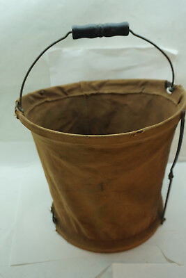 New York Central Railroad Nycs Canvas Bucket Fire Water Vintage Antique Train