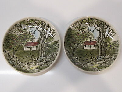 Vintage Johnson Brothers Ironstone 2 Small Dishes ~ England