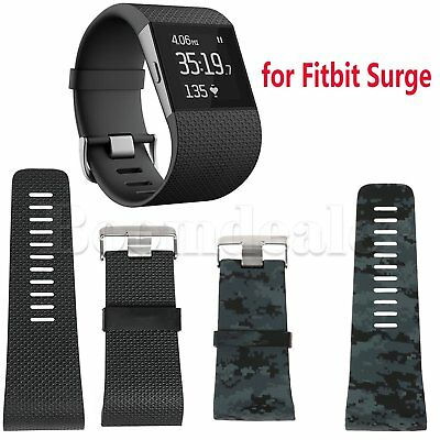 Silicone Replacement Band Strap Wristband + Tools for Fitbit Surge Tracker S/L