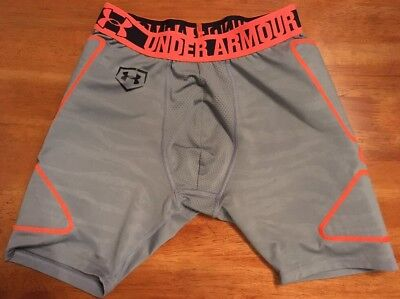 Boy's Under Armour, fitted Heat Gear compression short, Padded, No Content Tag M