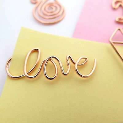 Love Paper Clips Rose Gold Planner Accessories Paperclip Set of 4