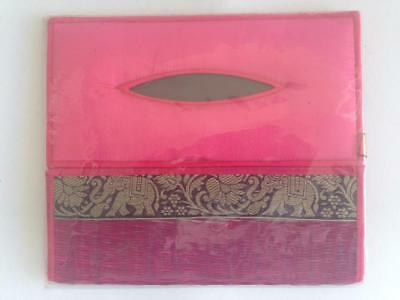Tissue box cover ornamental holder rectangle natural reed silk beautiful design3