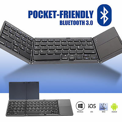 New Ultra Slim Bluetooth Wireless Keyboard for Apple iPad iPhone Android Win