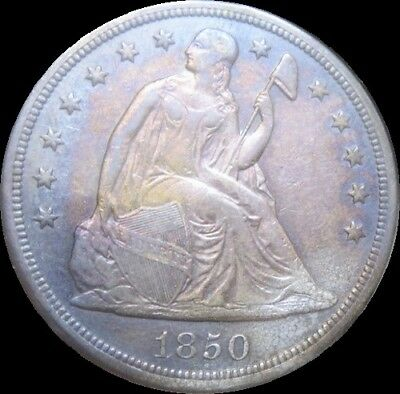 1850-O BORDERLINE UNCIRCULATED++ Seated Liberty Dollar -Key Date- Beautiful Tone