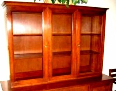 2pc. Willett Solid Cherry Credenza/Sideboard/Buffet and Glass Door China Cabinet