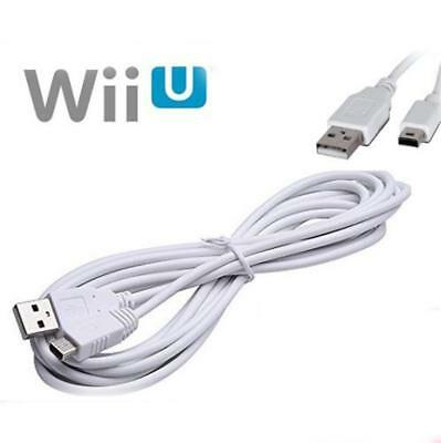 3M USB Data Sync Charger Cable Lead For Nintendo Wii U Gamepad Controller NA