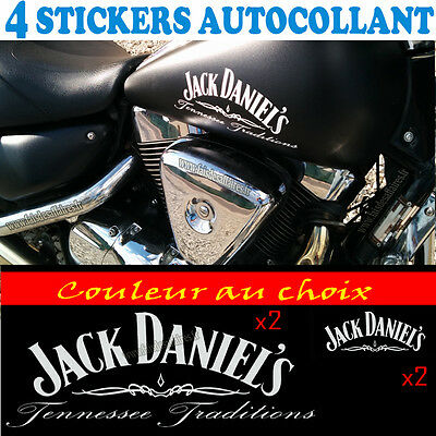 4 stickers autocollant JACK DANIEL'S sticker deco casque moto