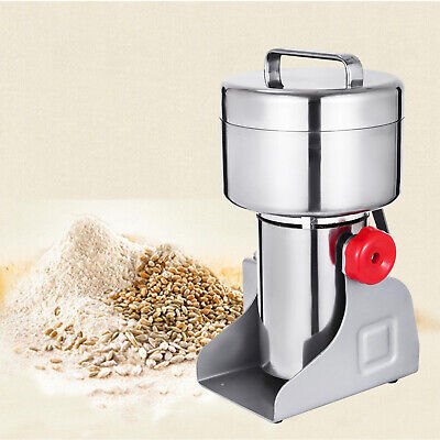 500g Electric Herb Grain Mill Grinder Wheat Cereal Seasoning Feed Medical Clinic