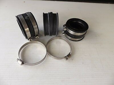 TRIUMPH Tiger 885 Carbs to Head Intake Rubbers x 3 ea + S/S Clamps x 6 ea New