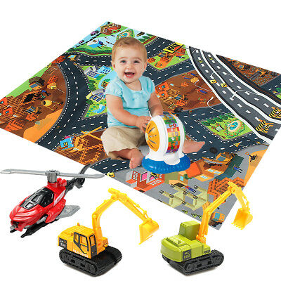 Anti-Slip Kids Children Play Mat City Road Farm Map Floor Game Rug With Toy Car