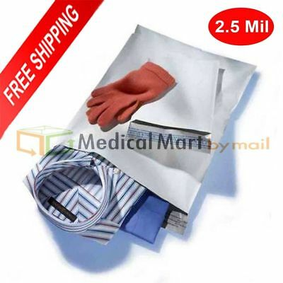 "100 Pcs 10x13 White Poly Mailers Envelopes Shipping Bags 2.5 Mil Thick 10"" x 13"""