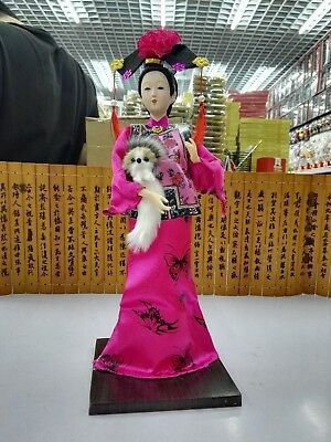 Oriental Broider Doll,Old figurine china Dynasty /princess dolls statue