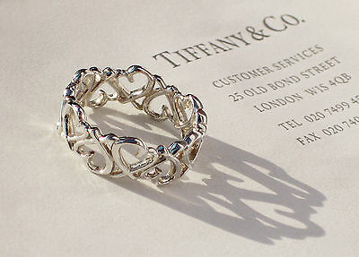 Tiffany & Co Paloma Picasso Herz Sterlingsilber Full Band Ring