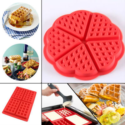 Baking Tool Cookie Chocolate Mould Silicone Biscuits Mold Waffle Pan Muffin