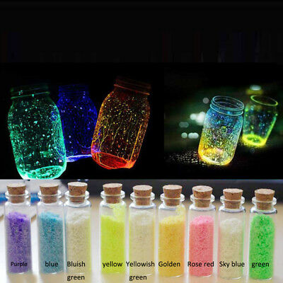 9 Farben Glow In the Dark Luminous Coarse Sand FISH TANK AQUARIUM Ornament 2017~