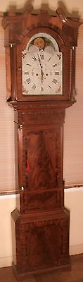 "Antique Mahogany ""  Halifax  "" Moon Dial Longcase / Grandfather Clock"