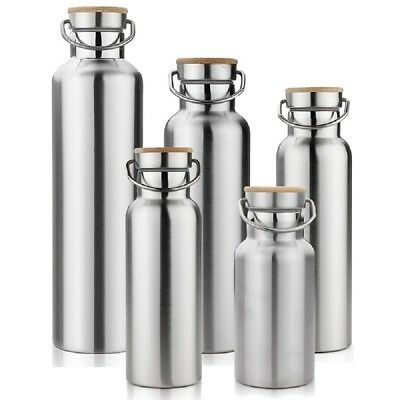 Thermos Water Insulated Flask Stainless Steel Vacuum Bottle Travel Double Wall