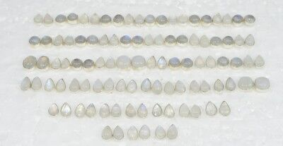 Wholesale 50Pair 925Solid Sterling Silver Natural Rainbow Moon Stone Earring Lot