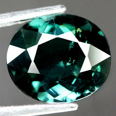 2.13Ct.marvelous! Oval Facet Blue Green Natural Tourmaline Nigeria