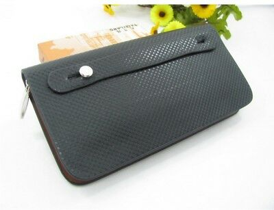 New Mens Long Casual Leather Wallet Pockets Card Clutch Cente Bifold Purse wa3