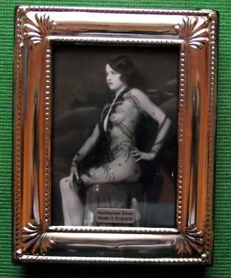 Shell Edwardian Design Hallmarked Sterling Silver Photo Frame : Xmas Valentines