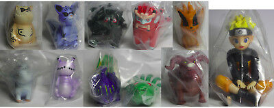 NEW Anime Naruto with 9 Bijuus Toy Figurines 4-7cm 11pcs