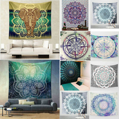 Mandala Tapestry Indian Wall Hanging Bohemian Hippie Queen Bedspread Home Decor