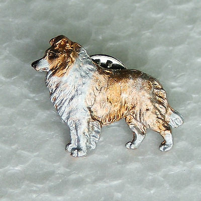 Border Collie Red White Merle Lapel Pin Dog Breed Jewellery Handpainted