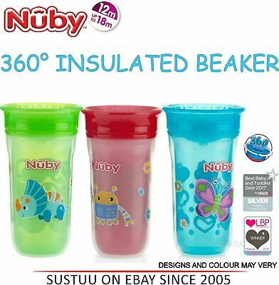 Nuby 360° Insulated Maxi Spill Proof Seal Beaker Toddler Watertight Coverlid Cup