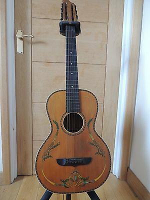 Stromberg-Voisinet Parlor Guitar 1920's/30's Natural with Original Graphics Rare