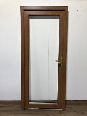 Brown upvc door and frame picclick uk for Brown upvc door