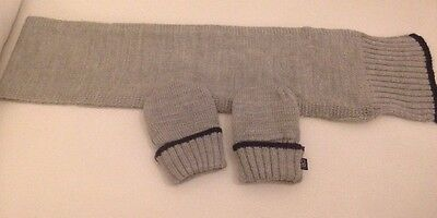 Boys scarf & Mitten Set. 1 Year Boy VGC Lovely Grey By Obaibi