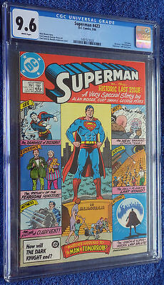 Superman #423 CGC 9.6 White Pages Whatever Happened to the Man of Tomorrow?