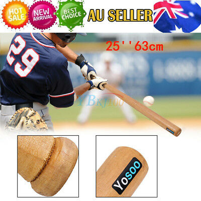 "25"" 63cm Outdoor Wood Baseball Bat Wooden Softball Bat Safety Exercise Sports"