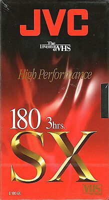 JVC E-180 SX VHS Blank Tape BRAND NEW FACTORY SEALED PAL Version