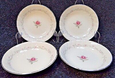 "FOUR Fine China of Japan Royal Swirl Berry Fruit Bowls 5 5/8"" Set of 4 EXCELLENT"